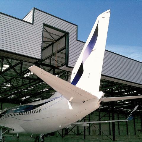 RS 7480 Hangar - Tailgate photo - Biggin Hill Terminal - Hangar Brochure